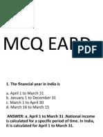 MCQ unit 5 EABD