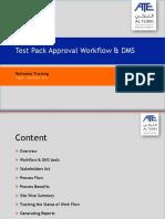 Refreshers Training - TestPack Work Flow Version1