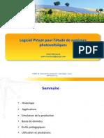 Logiciel PVsyst pour l'étude de systèmes photovoltaïques