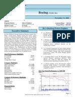 Boeing Finnancial Analysis 2008