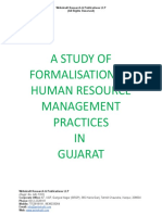 A Study of Formalisation of Human Resource Management Practices in Gujarat [www.writekraft.com]