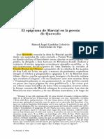 El Epigrama de Marcial en La Poesa de Quevedo 0 (1)