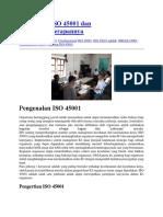 Pengertian ISO 45001 Dan Manfaat