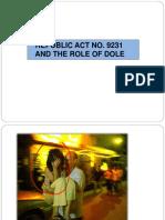 Ra 9231 & Role of Dole