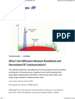 What's the Difference Between Broadband and Narrowband RF Communications