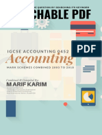 IGCSE Accounting All Mark Scheme 2002 Summer 2018