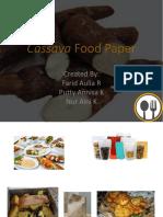 Cassava Food Paper