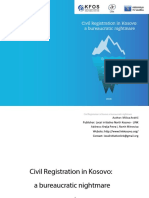 Civil Registration in Kosovo