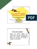 Slides Sobre Partes de Um Projeto de Pesquisa