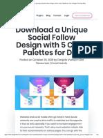 Divi Social Follow Design