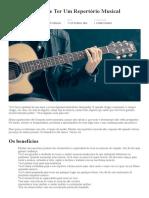 A Importância de Ter Um Repertório Musical - Academiamusical _ Escola Online