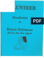 Volunteer Students at Haym Salomon Home for the Aged