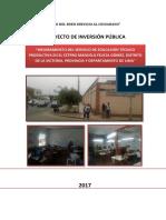 CP - Mejoramiento Del Servicio de Educación Técnico Productiva en El CEPTRO Manuela Felicia Gómez, Distrito de La Victoria, Provincia y Departamento de Lima