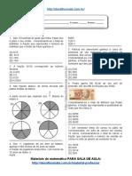 Simulado_atividade 36 de Matemática Para 6º Ano