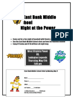 2018 Group Flyer - East Bank Middle School