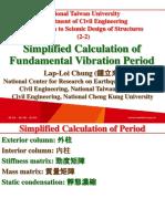 107 1 NTU SDS 2 2 Simplified Calculation of Period