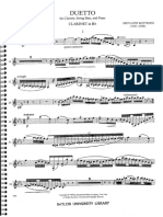 Bottesini - Duetto for Clarinet and Double Bass Clarinet