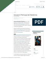 Giovanni Pierluigi da Palestrina | Biography & Facts | Britannica.com