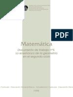 Matemática. Documento de trabajo Nº 5. La enseñanza de la Geometría en el 2.pdf