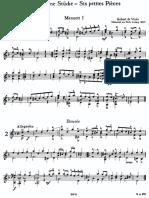 Robert De Visse - Six Petites Pieces - classical guitar score.pdf