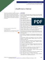 AAP Publications Reaffirmed or Retired