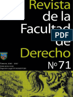 Revista de la Facultad de Dereho Numero 71