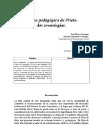 Tiempo pedagógico de Prieto,  dos cronologías.