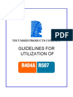 Tecumseh Guidelines for Utilization of R404A and R507
