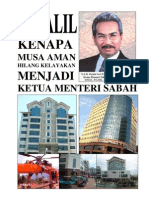 81 dalil kenapa Musa Aman hilang kelayakan menjadi Ketua Menteri Sabah