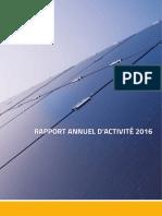 Rapport annuel d'activité 2016