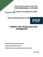 Tesis2008 Anabela Gabalec Tiempo de Fraguado Del Hormigon