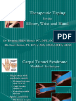 4 Elbow Wrist and Hand Therapeutic Taping2010