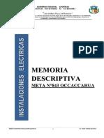 Memoria Descriptiva Meta Nº 843 Occaccahua