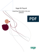 Importing Information Into Sage 50 Payroll