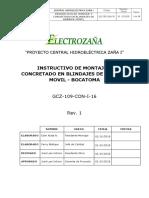 GCZ 109 CON I 016 R1 Montaje y Concretado de Blindaje
