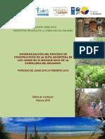 Evaluation Cordillera Del Balsamo