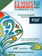 Programme du Rendez-vous fransaskois