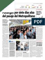 Postergan Por 7 Días Alza De Pasaje - Peru21 1 noviembre 2018