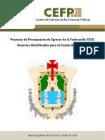 Proyecto de Presupuesto de Egreso de La Federación 2015. Recursos Identificados Para El Estado de Veracruz.