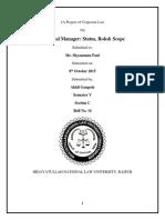 Akhil Gangesh Corporate Law 1 Sem 5th