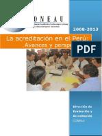 CONEAU La Acreditacion en El Perú 2008 2014 1