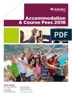 Accommodation and Course Fees 2018