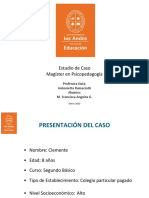 Ppt Tesis Estudio de caso psicopedagógico