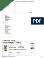 Estaciones Totales Topograficas Para Mexico, Estacion Total Topografia