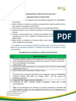 Requisitos Para Postulación 2019-I