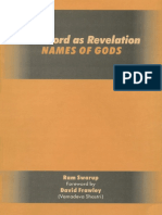 The Word as Revelation- Names of God