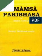 Mimamsa Paribhasa