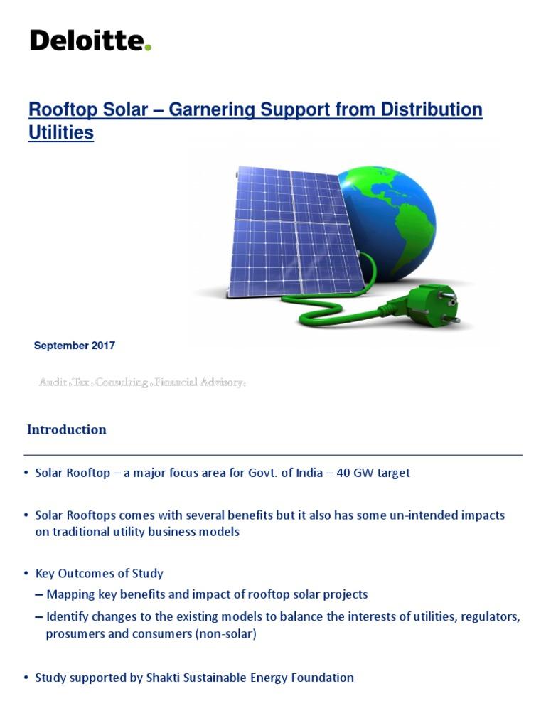 Deloitte Presentation - Solar rooftop from Discom