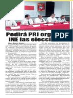 01-11-18 Pedirá PRI organice INE las elecciones