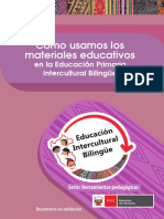 Orientacion Para El Uso de Materiales Educativos en El Eib Castellano
